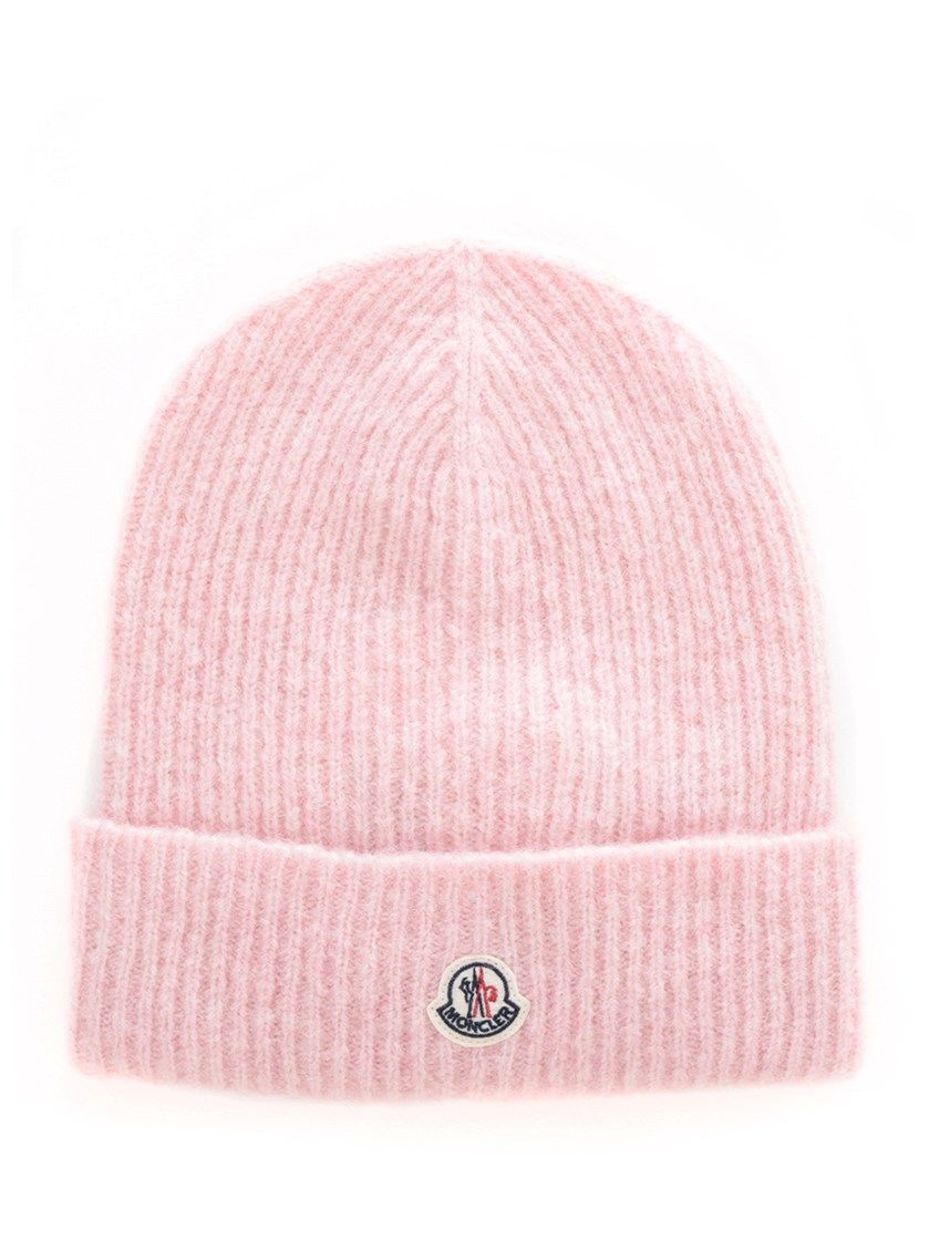 6d6ad8b67ec MONCLER Pink Wool Ribbed Heanie.  moncler  hats