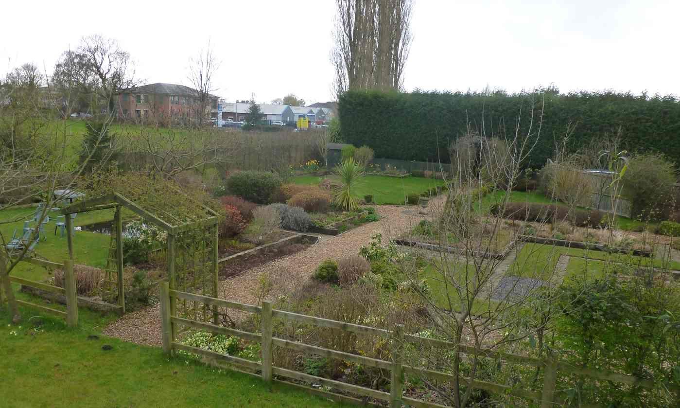 Drone\'s eye view of my familiar patch   Gardens