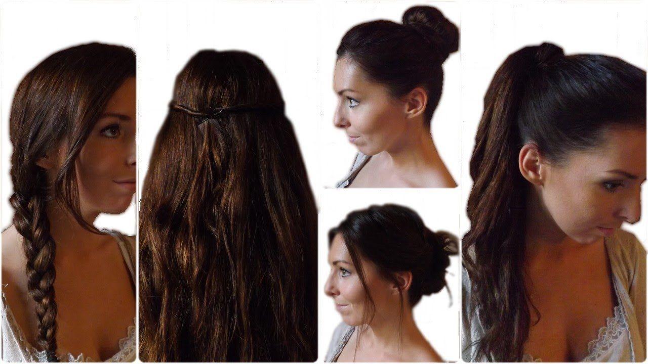 coiffures faciles et faisables sur extensions extention