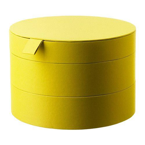 IKEA - PALLRA, Box mit Deckel, Die Behälter der Serie PALLRA sind in mehreren Maßen und Farben erhältlich - so lässt sich ganz nach Geschmack, Bedarf und Platz Ordnung schaffen.Auf drei leicht zugänglichen Etagen verteilt, lassen sich Schmuck, Kosmetik und andere kleine Dinge leicht ordnen und wiederfinden.