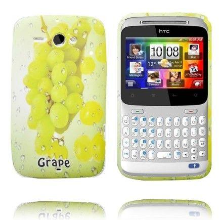 Fresh Fruit (Viinirypäleet - Vihreä) HTC ChaCha Silikonisuojus