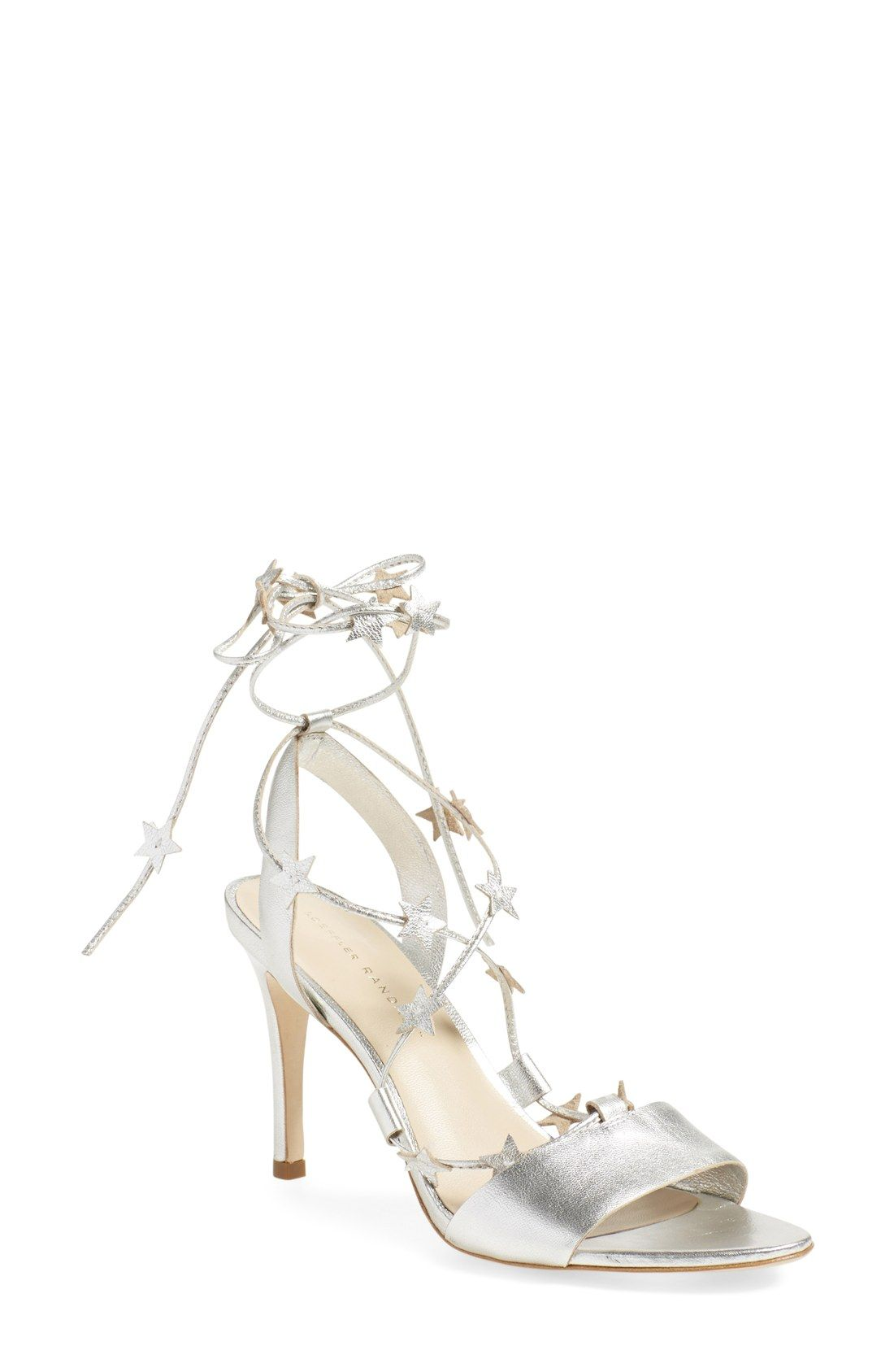 Let little gleaming stars adorn your ankles with these adorable ankle wrap sandals from Loeffler.