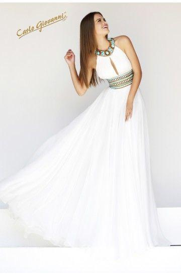 Vestidos blancos largos casuales
