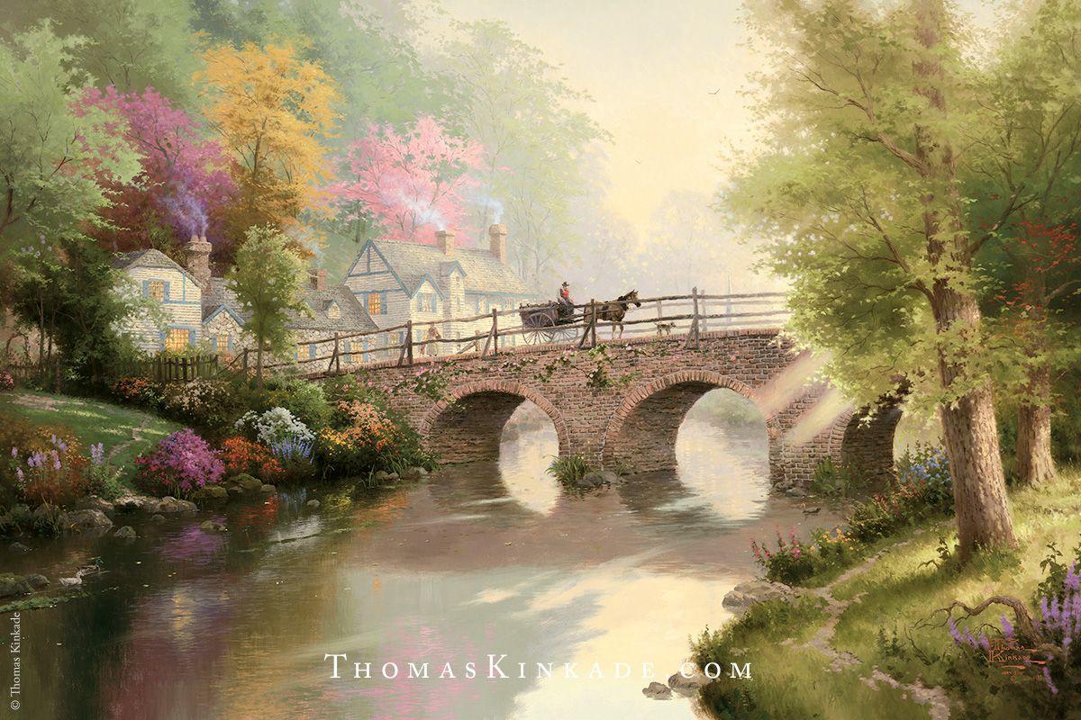 Lakeside Manor by Thomas Kinkade 11 x14 Print