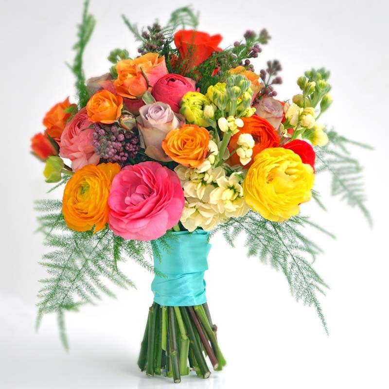 Bridal Flower Bouquets, A Gallery of beautiful arrangements, colours ...