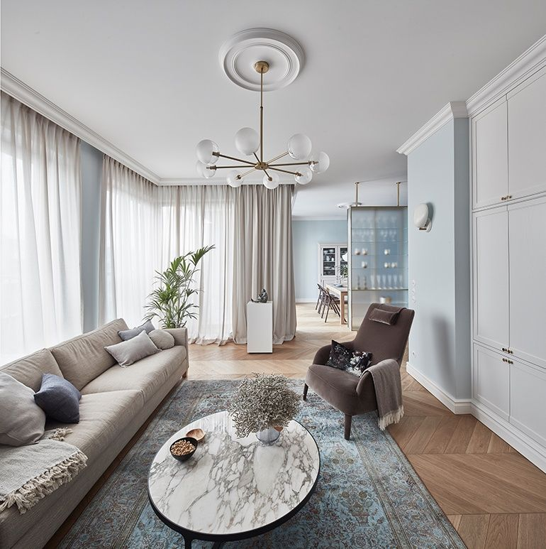 Id Studio Prioritizes Craft And History In Luxury Polish Apartments Home Decor Living Room Interior Interior Design Kitchen Contemporary Polish furniture for living room