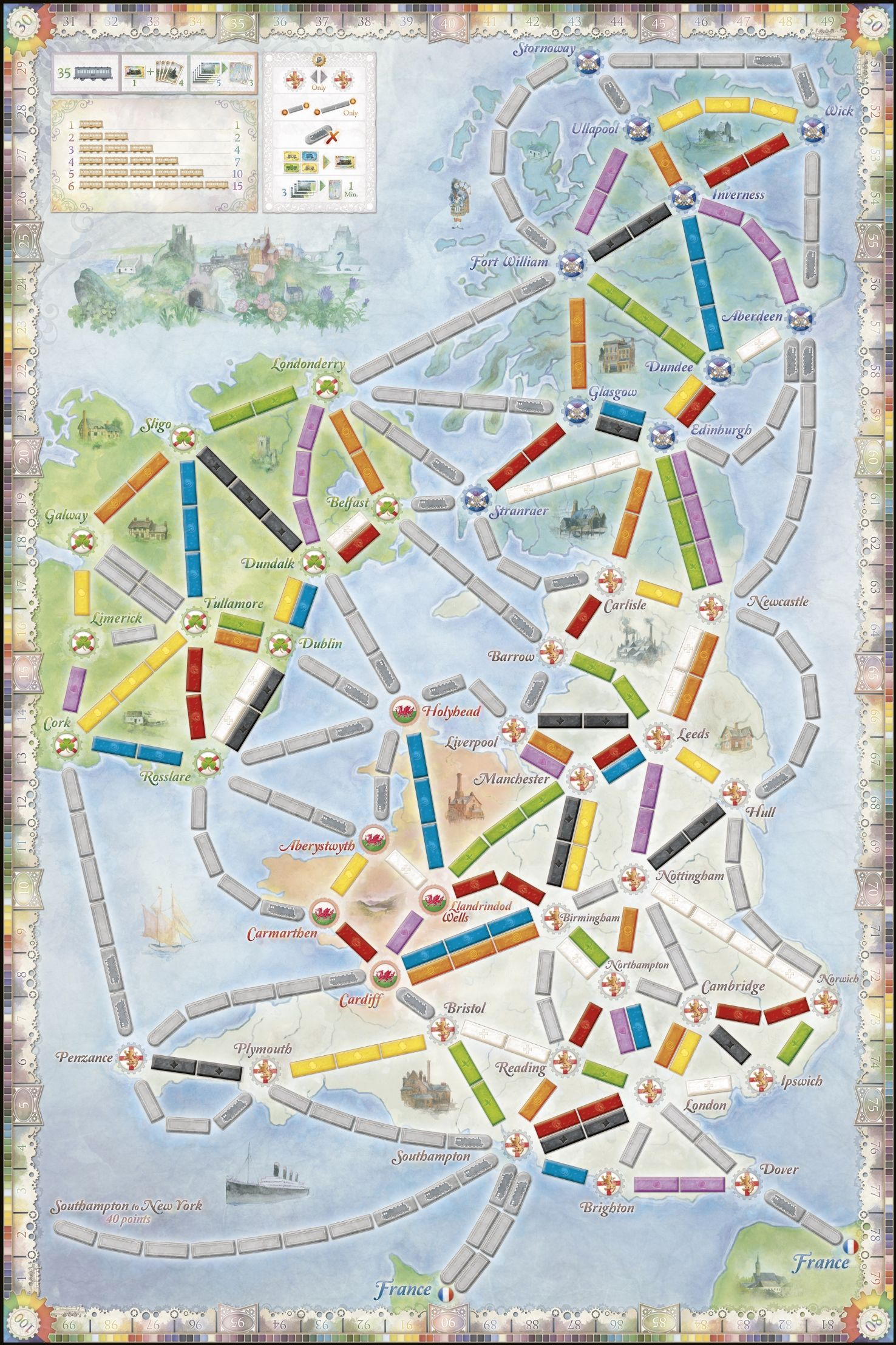 Map Usa Game%0A   Ticket to Ride Map Collection  Volume    u     United Kingdom  u     Pennsylvania    TTR