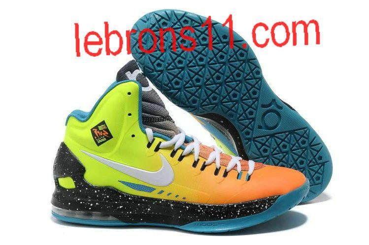 b046d5526fb4 Kevin Durant 5 Surf Style Gradient Red Neon Green Yellow Shoes ...