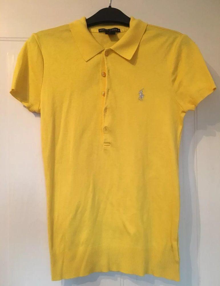 df14e909 Ralph Lauren Womens Yellow Polo Shirt - Size S #fashion #clothing #shoes # accessories #womensclothing #tops (ebay link)