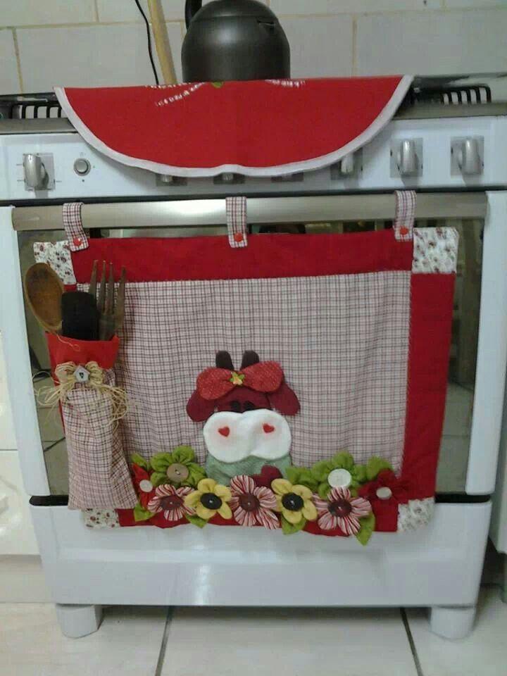Que lindo porta colher de pau.   copri forno   Pinterest