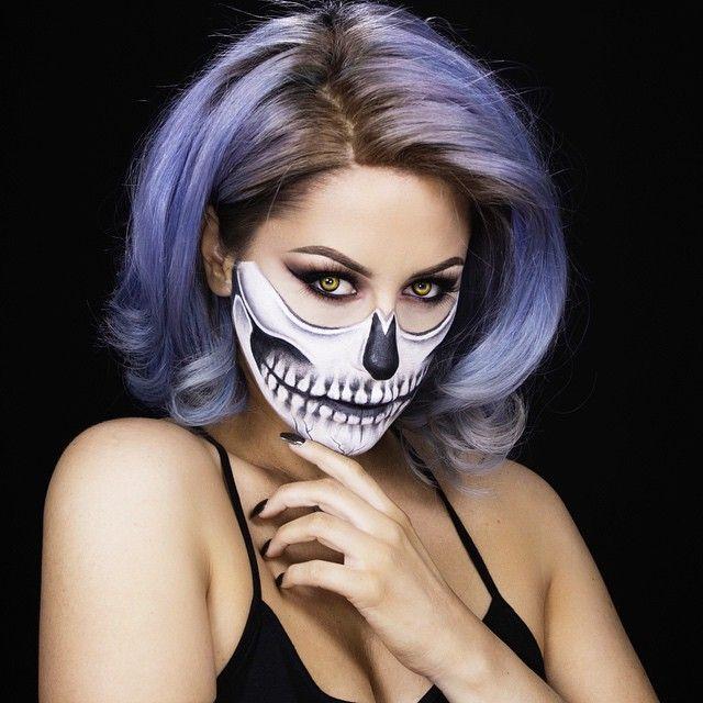 skull look for halloween by chrispy makeup - Skull Halloween Decorations