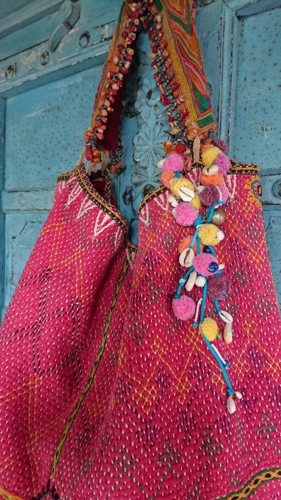 Vintage indische Banjara Tribal Stoff Umhängetasche ethnische Kutchi ...