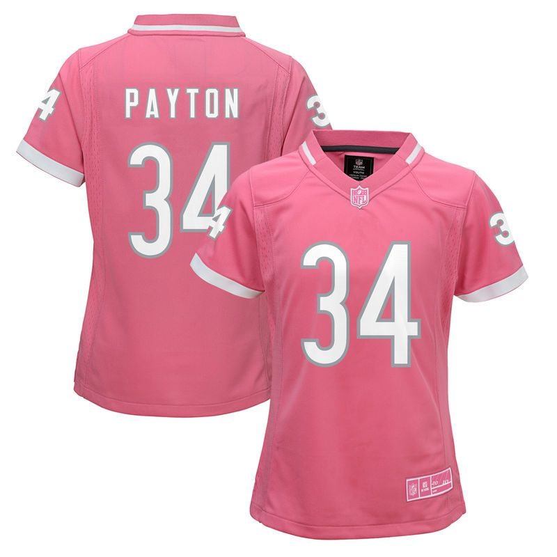 b52efcc9885 Walter Payton Chicago Bears Girls Youth Fashion Bubble Gum Jersey – Pink