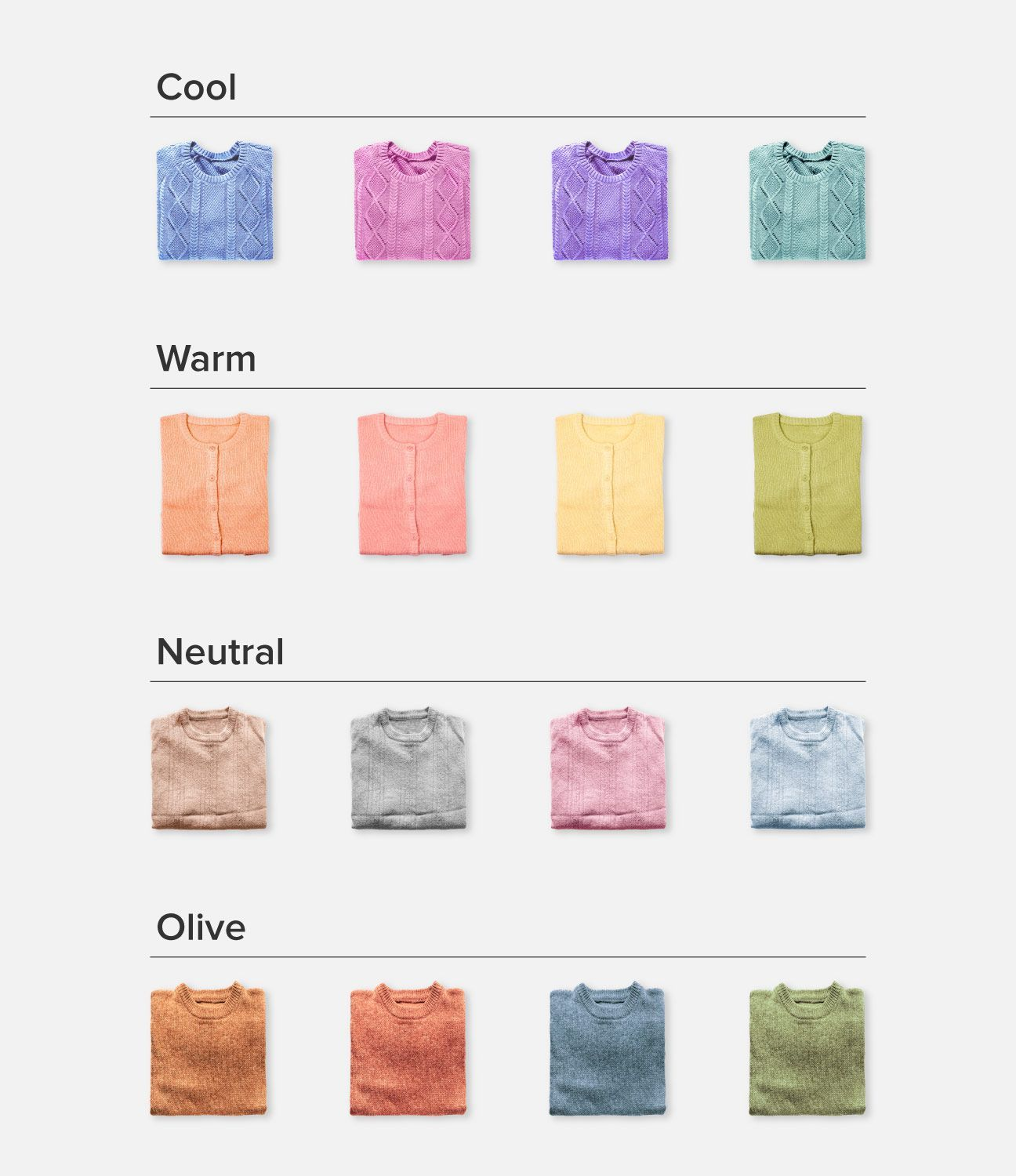 Skin Undertones Chart Warm Cool Neutral Pink Yellow And More