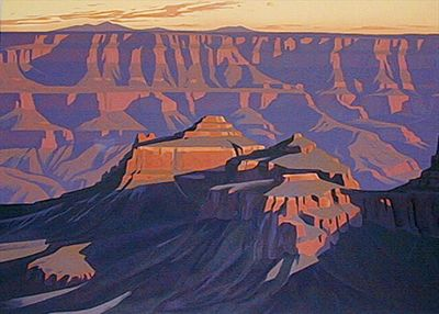 Artists of the Grand Canyon - Ed Mell - Shadows on the South Rim