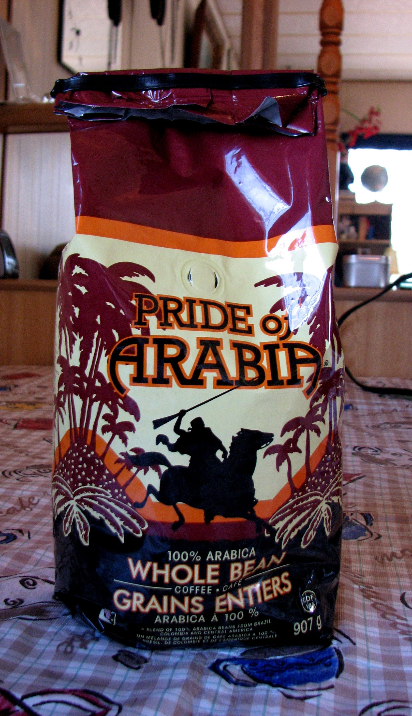 pride of arabia coffee. best coffee ever. one of the few