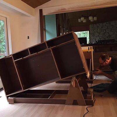 How To Seamlessly Install An Island Cabinet On An Uneven Floor