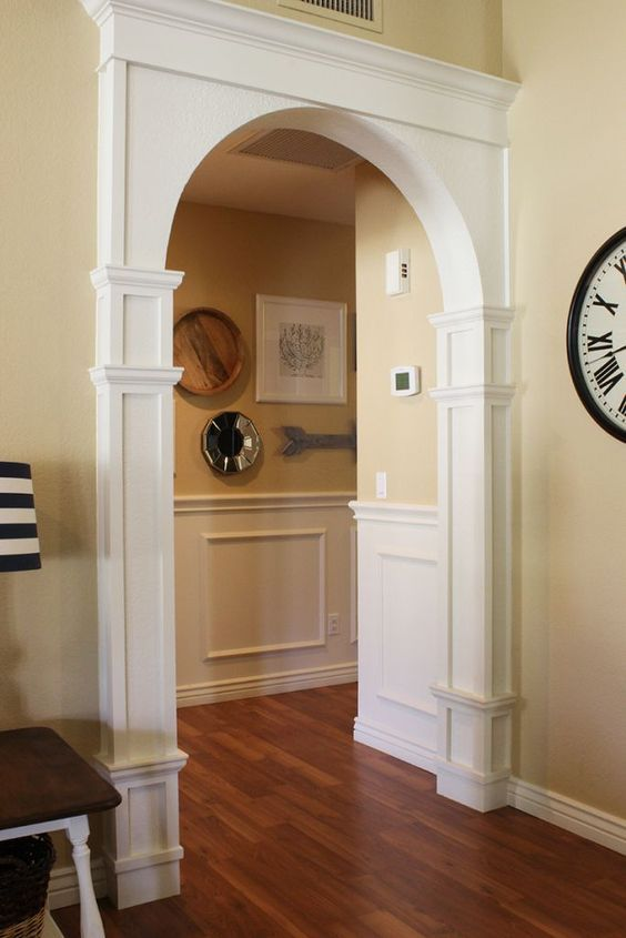 Diy Arch Moulding Tutorial Arch Molding Arched Doors Moldings And Trim