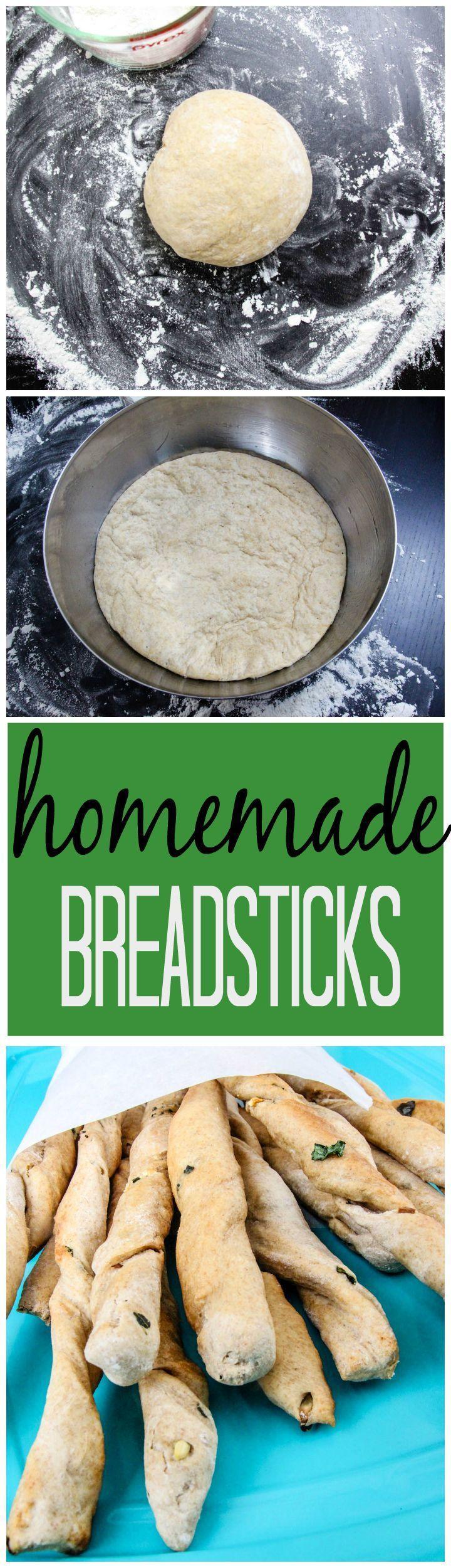 How to Make Homemade Breadsticks, Breadstick Recipe, Homemade Bread Recipes, Dough Recipes, DIY Breaksticks
