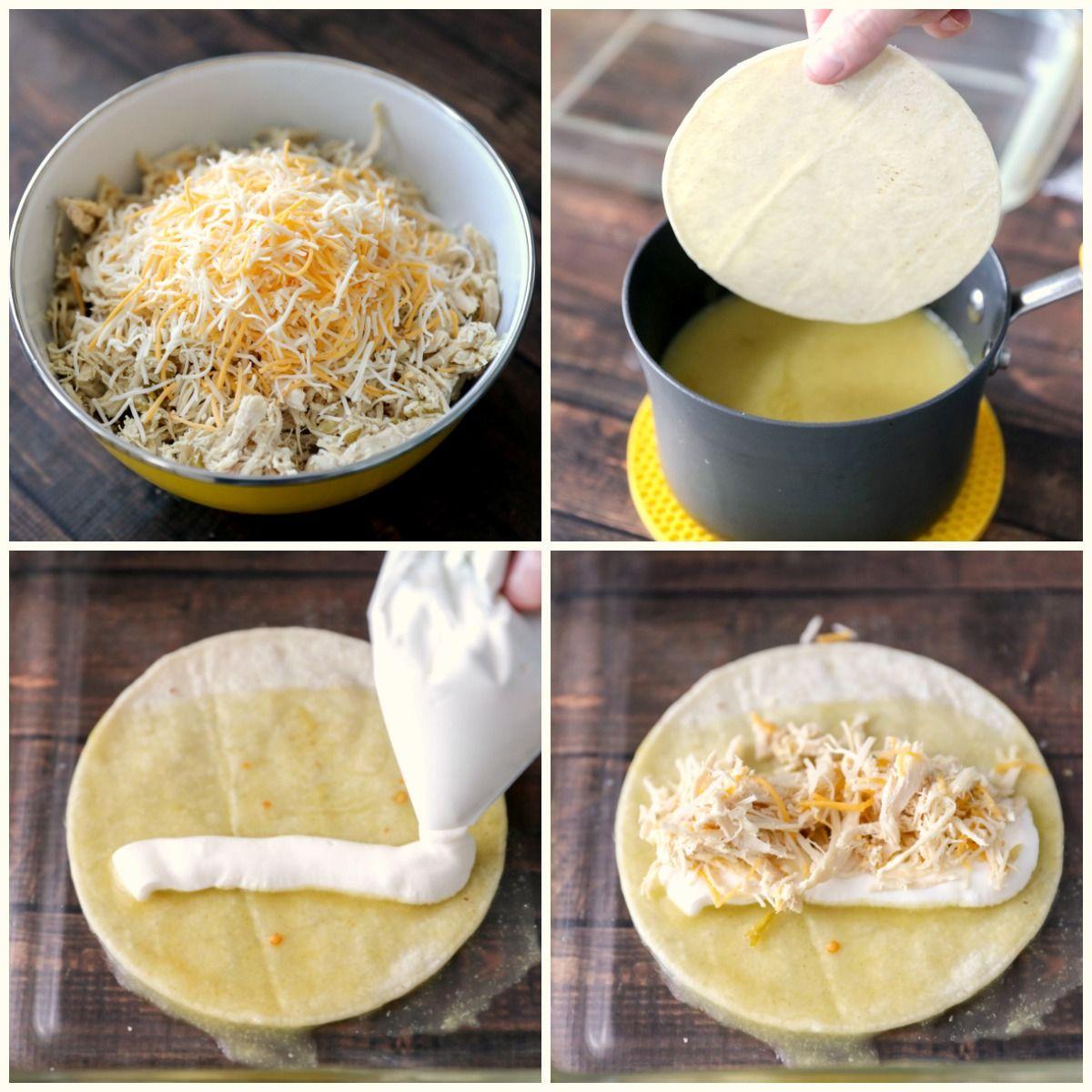 Best Green Chile Chicken Enchiladas Video Lil Luna Recipe Enchilada Recipes Enchiladas Corn Tortillas Chicken Enchiladas