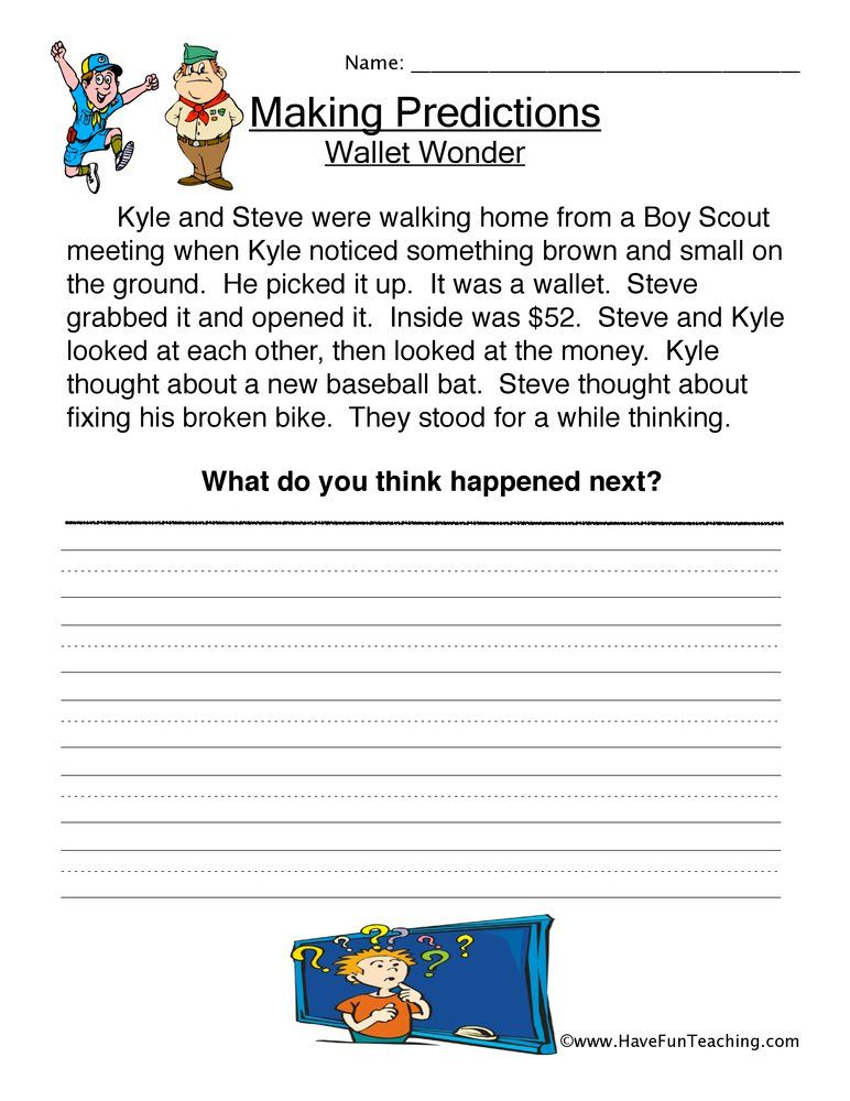Resources Second Grade Reading Worksheets Making Predictions Reading Worksheets Have Fun Teaching Making predictions worksheets 2nd grade