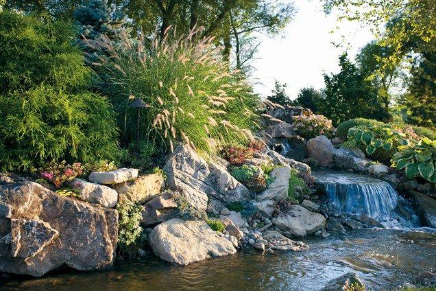 Pin de Cindi Hinshaw en B-14) GardenWater Treatments, Waterlilies - cascadas en jardines