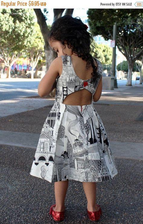Rebel Girl, Party Dress, PDF Sewing Pattern, open back dress, low back dress, girls dress pattern, trendy baby clothes, sewing pattern -   25 diy dress party ideas