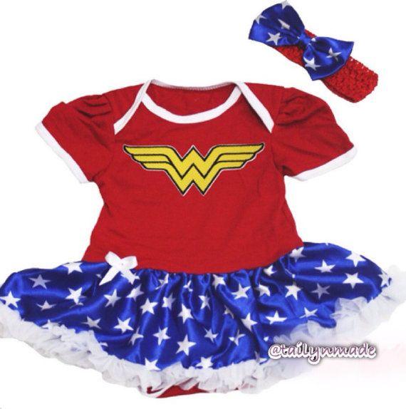 Wonder Woman Inspired Newborn//Infant Bodysuit