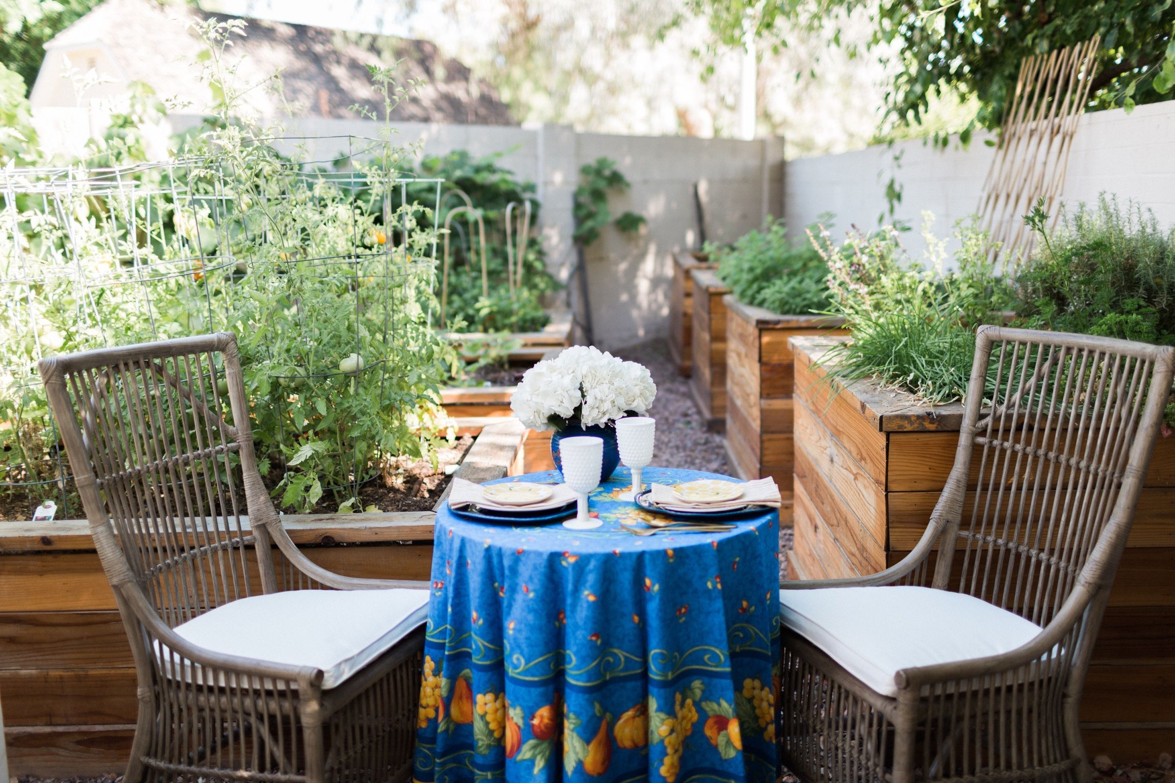 Intimate Garden Birthday Tea for Two Celebrating a Best Friend