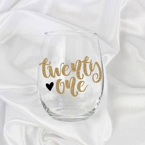 21st birthday gift for her, 21st birthday gift, 21st wine glass, 21st birthday decorations, 21st bir #21stbirthdaydecorations