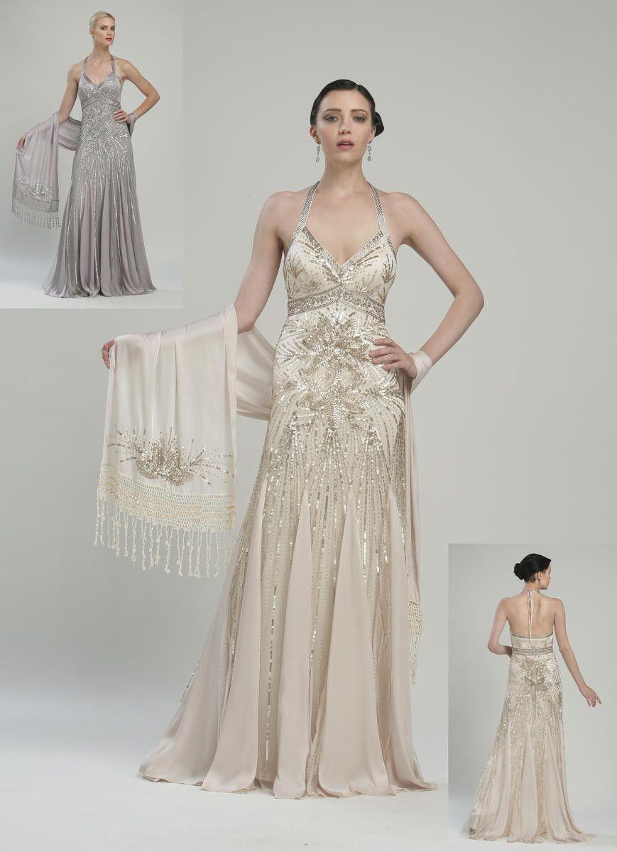 Sue Wong Platinum Evening Gown   Future wedding   Pinterest   Sue ...