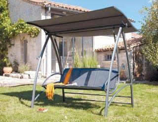 Balancelle 3 places – acier/aluminium | Outdoor - Extérieur ...