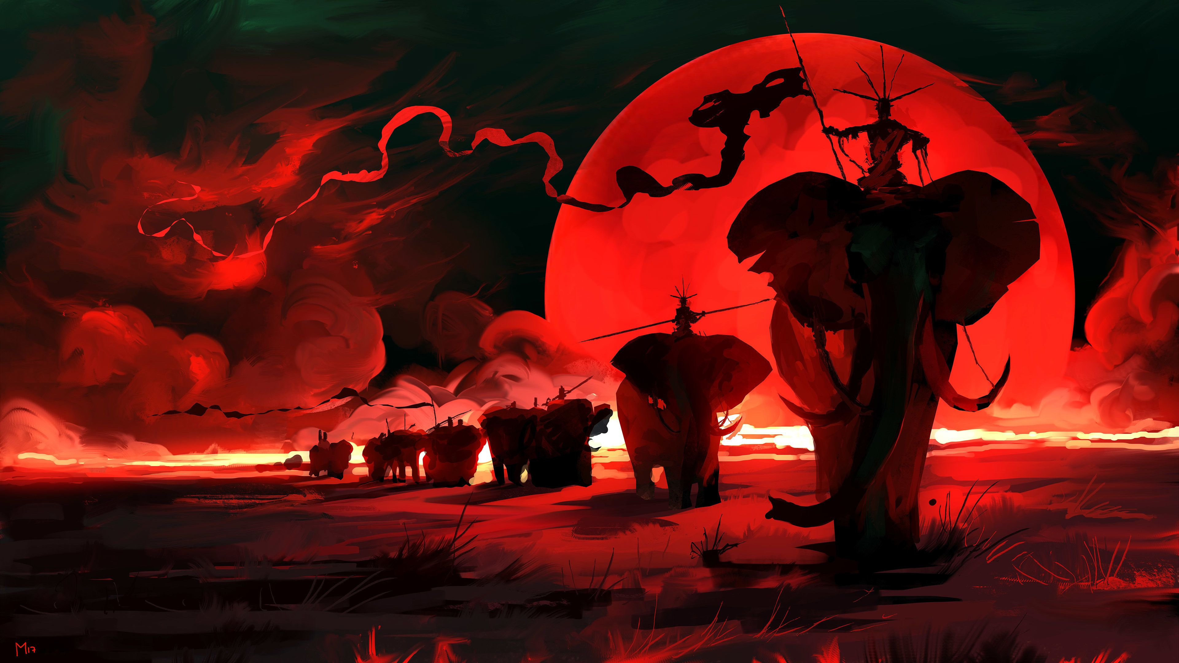 Elpehant Red Moon Digital Art 4k Hd Wallpapers Elephant Wallpapers Digital Art Wallpapers Behance Wallpapers Artwork Wa Moon Art Print Moon Art Fantasy Art