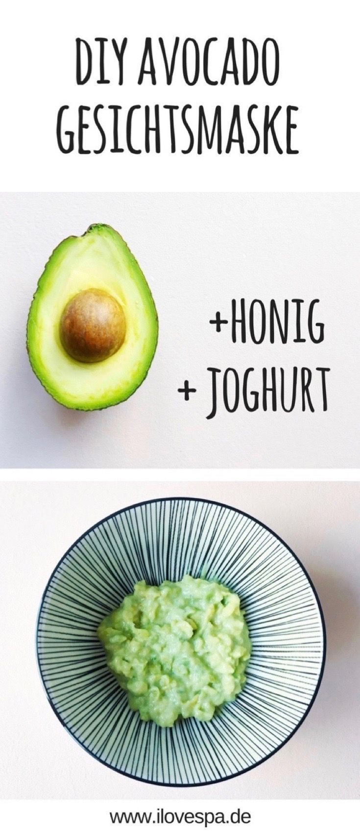 DIY Avocado Maske selber machen - perfekt geeignet für trockene Haut -