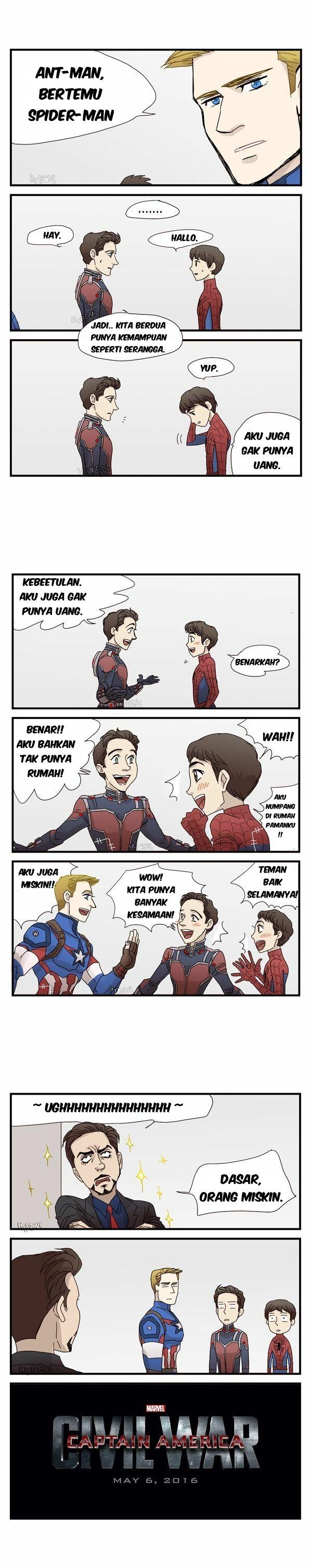 Komik Captain America Civil War Bahasa Indonesia Dasar