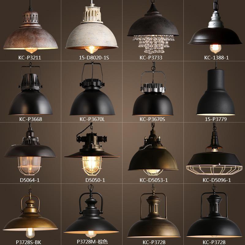Vintage Rustic Metal Lampshade Edison Pendant Lamp Lights Retro Lustre Shade Vintage Industrial Lighting Industrial Lighting Design Industrial Kitchen Lighting