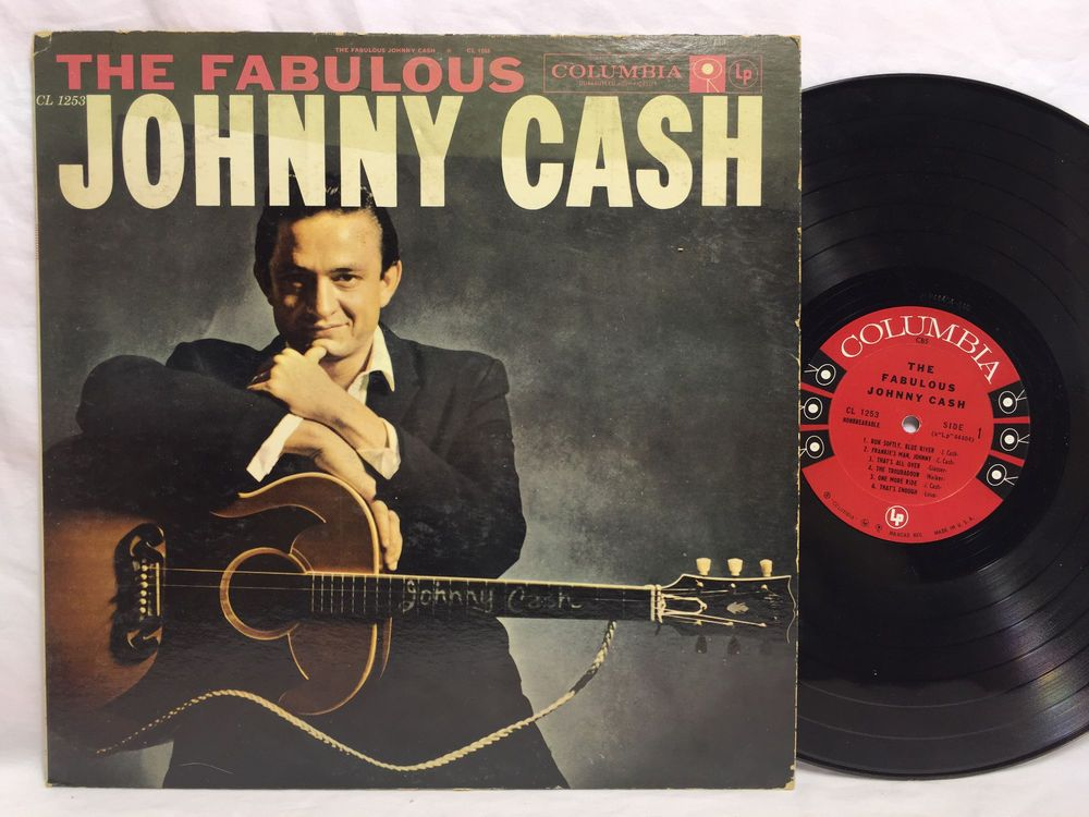 Johnny Cash The Fabulous Columbia 6 Eye Cl 1253 Lp Vinyl Record Original Johnny Cash Albums Johnny Cash Vinyl Records