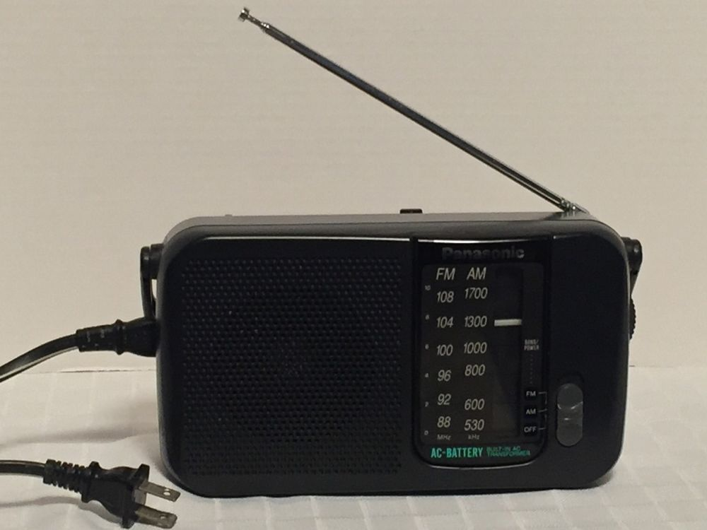 Panasonic AM/FM Radio RF-544 w/ Power Cord #Panasonic