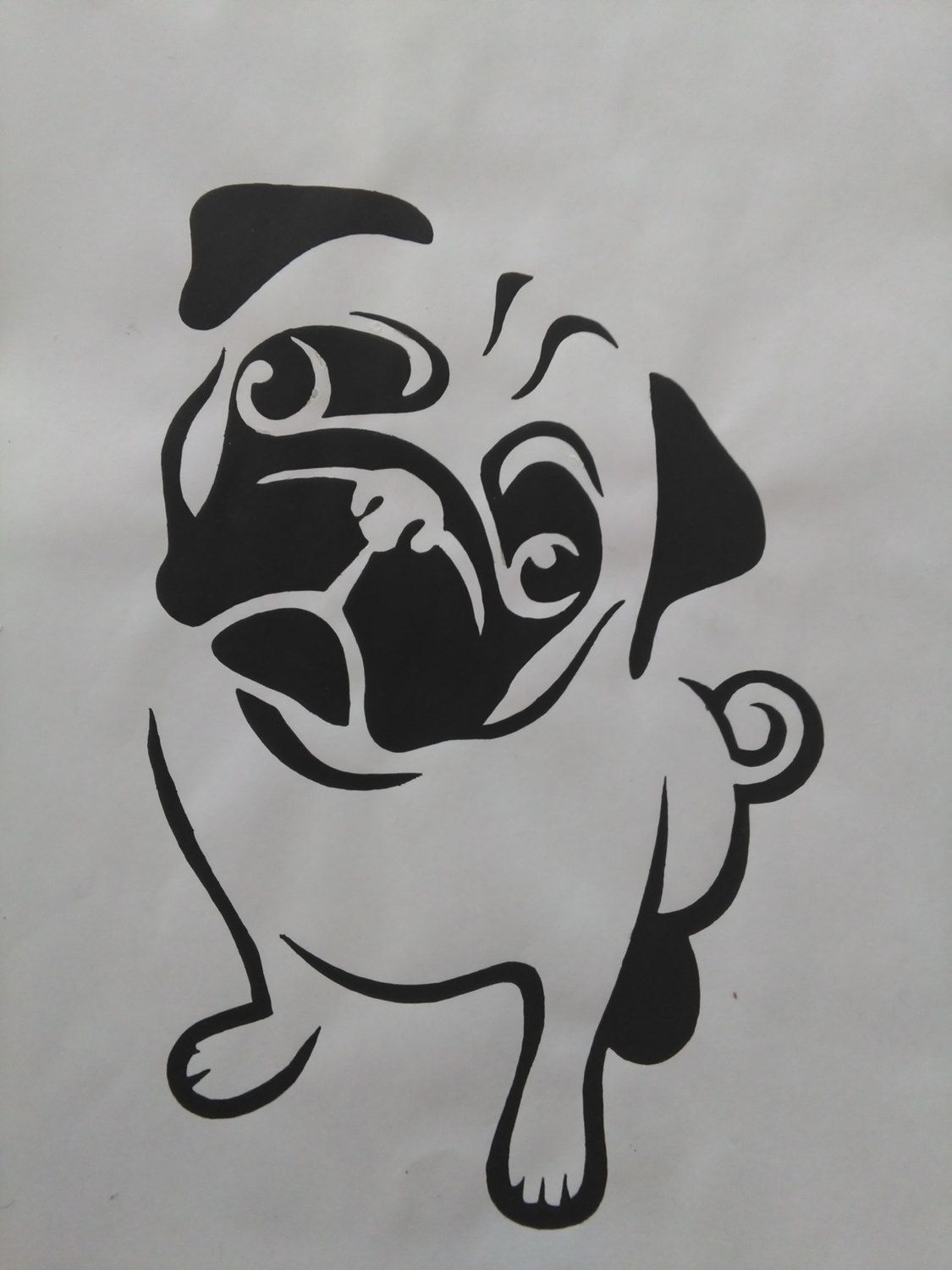 Pug Painting by AriEagle on Etsy | Cosas y mAs | Pinterest ...