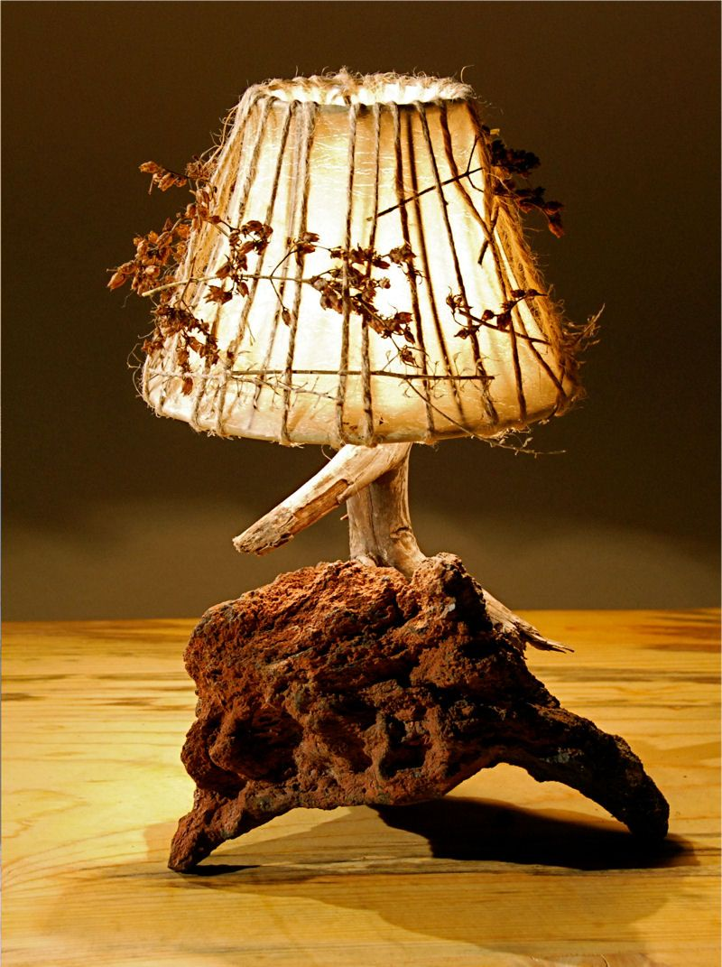 rustic lamp hand made lampshade Do You
