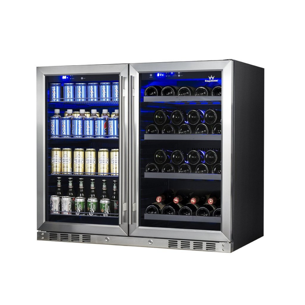 39 Inch Under Counter Wine And Beer Fridge Combo Wine And Beer Fridge Beer Fridge Wine Dispenser
