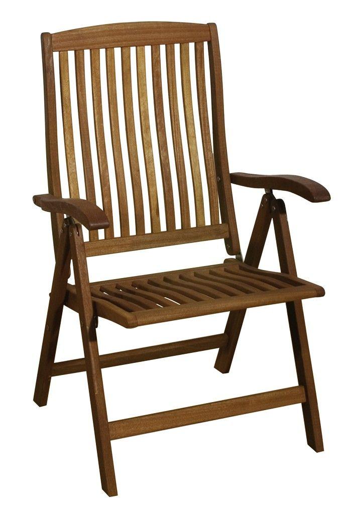 Gartenstühle hochlehner  Garden Pleasure Hochlehner BOSTON, 5-fach verstellbar ...
