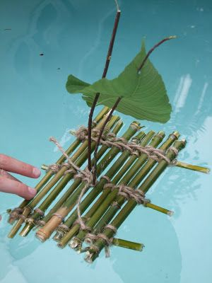 Acorn Pies: Make a Toy Boat Out of Sticks - Row Row Row Your Boat Activities - Wooden Boat Building, Boat Building Plans, Boat Plans, Make A Boat, Build Your Own Boat, Cool Boats, Small Boats, Forest School Activities, Activities For Kids