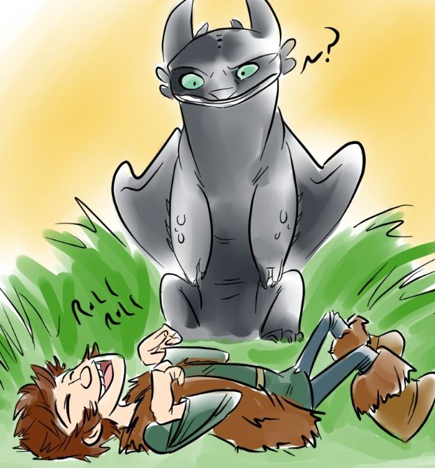 Toothless: Hiccup ate Dragon nip again    I'll get Gobber