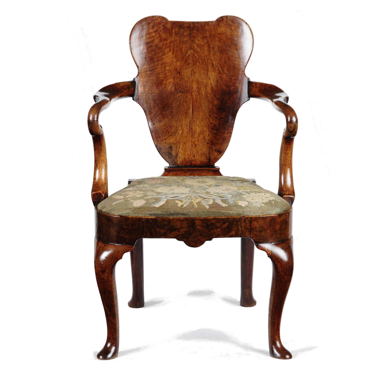 Transitional Queen Anne Chair