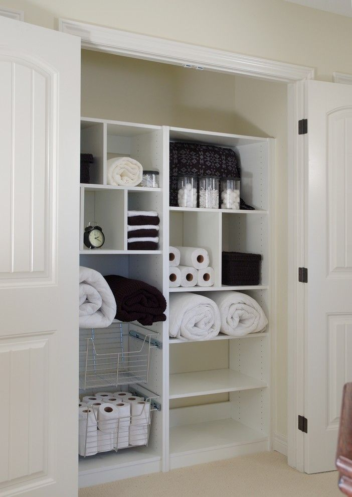 Small Linen Closet System In White Of Small Closet Organizers: Small  Storage Solution For Apartment