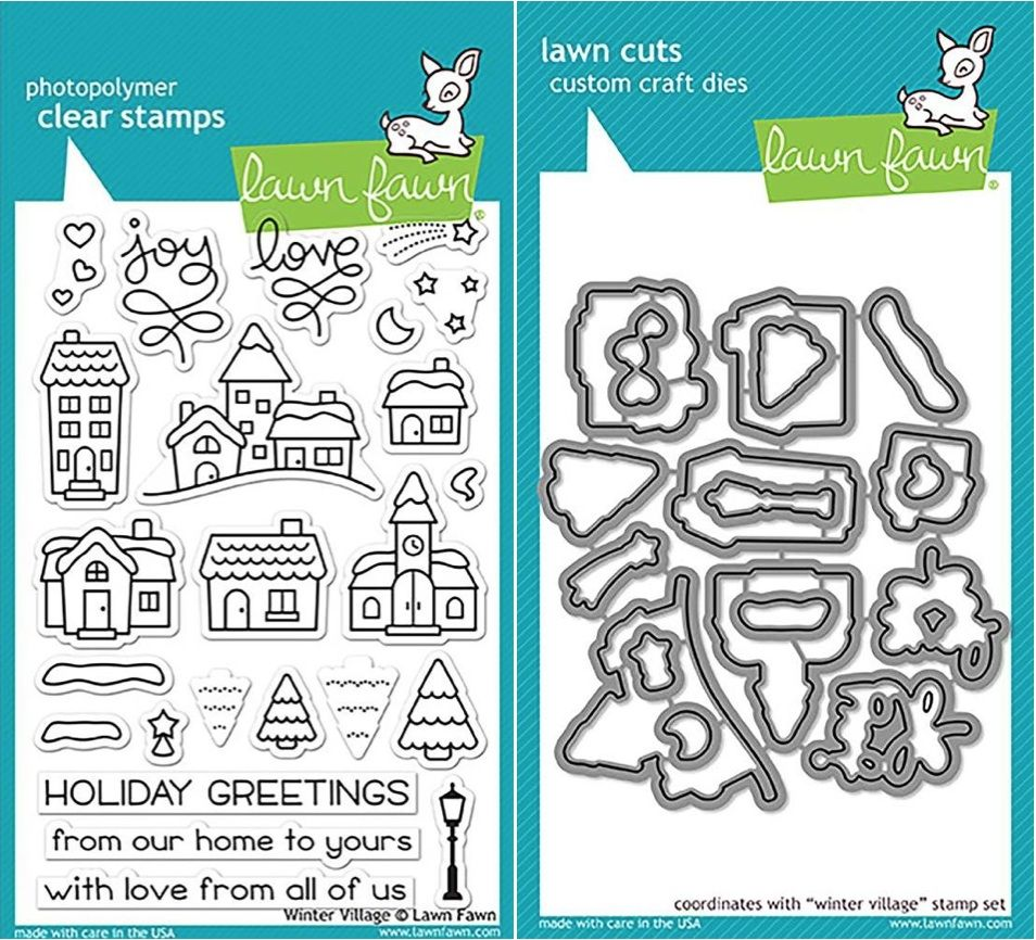 LF1472 LAWN FAWN Clear Stamps 4X6 Winter Village