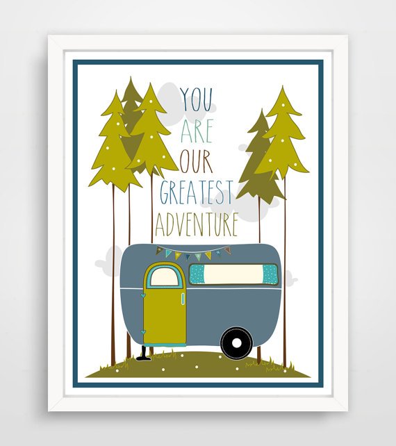 Kids Wall Art Print, Nursery Art, Children Wall Art. You Are My Greatest Adventure... print by Finny and Zook