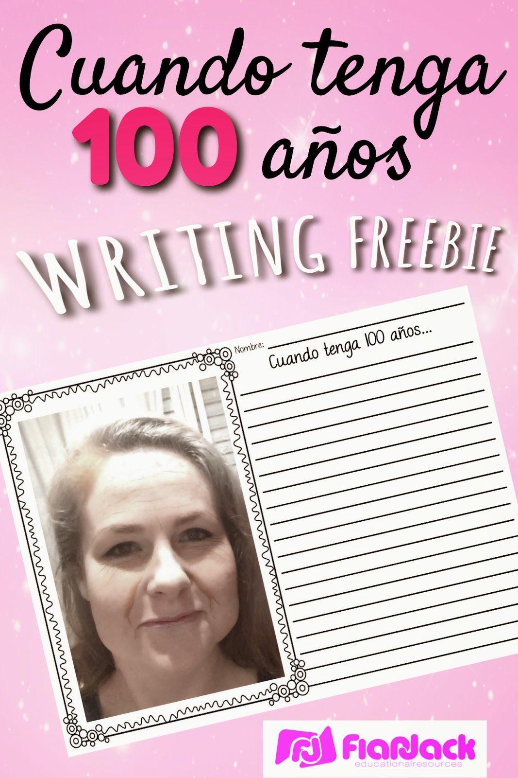 100 Years Old Spanish Writing Freebie
