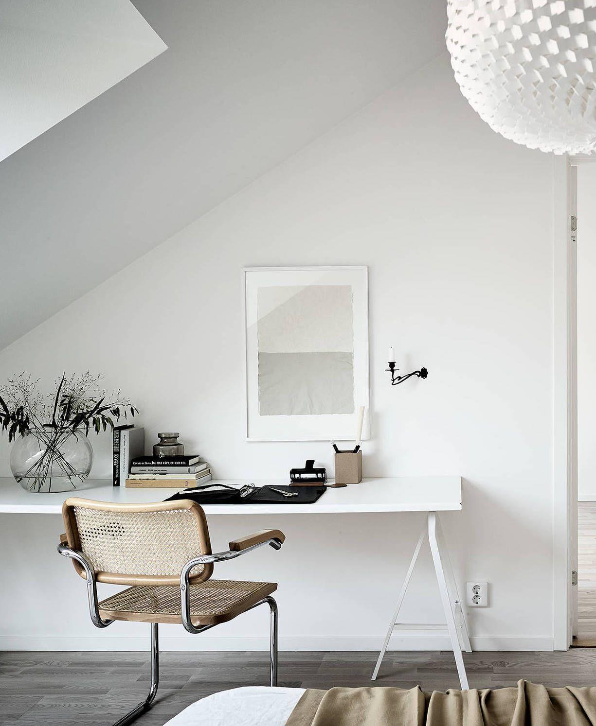 Light flooded attic home - via Coco Lapine Design blog   ⋆ Work ...